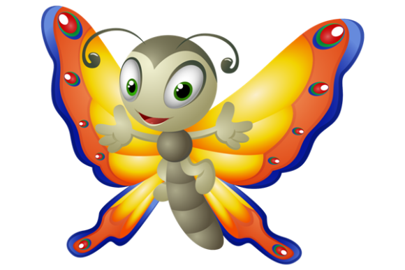 Cartoon Butterfly Graphic Illustrations By maskin
