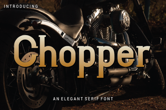 Print on Demand: Chopper Serif Font By nabarya.business