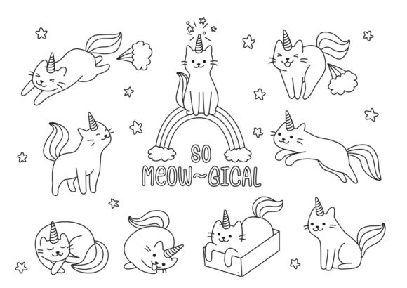 Print on Demand: Coloring Book Page Unicorn for Kids Graphic Coloring Pages & Books Adults By ajubayer555 - Image 4