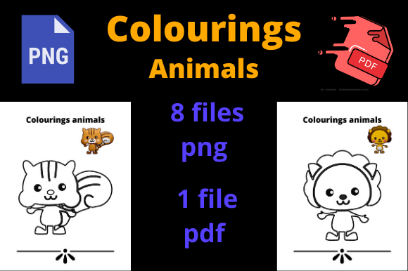 Print on Demand: Colourings Animals for KDP Graphic KDP Interiors By Dunkyshot