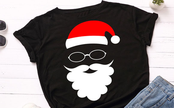 Print on Demand: Cool Santa Claus Christmas T Shirt Svg Graphic Illustrations By Lillyrosy
