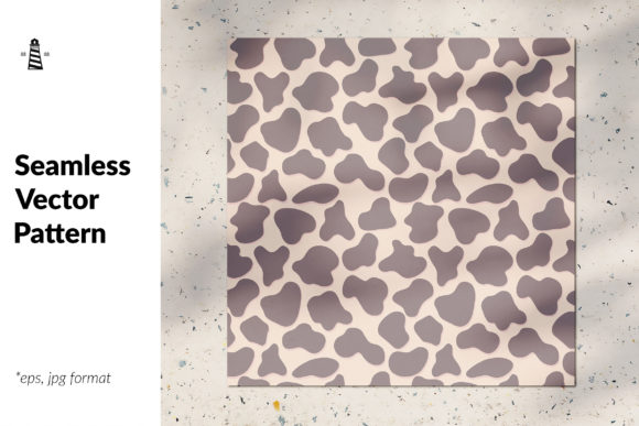 Print on Demand: Cow Seamless Pattern Graphic Patterns By northseastudio