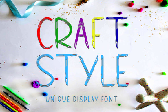 Print on Demand: Craft Style Display Font By Inermedia STUDIO