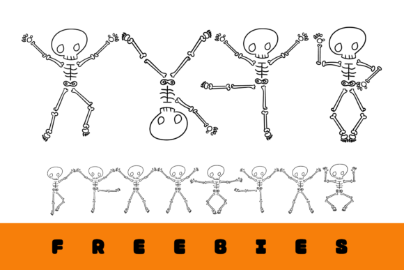 Dancing Skeleton Grafik Plotterdateien von Creative Fabrica Freebies