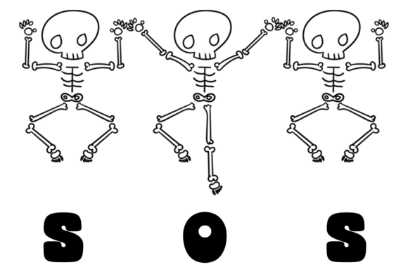 Dancing Skeleton Graphic Crafts By Creative Fabrica Freebies - Image 3