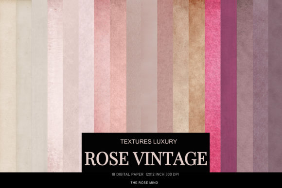Print on Demand: Digital Paper Vintage Rose Pastel  Graphic Textures By The Rose Mind