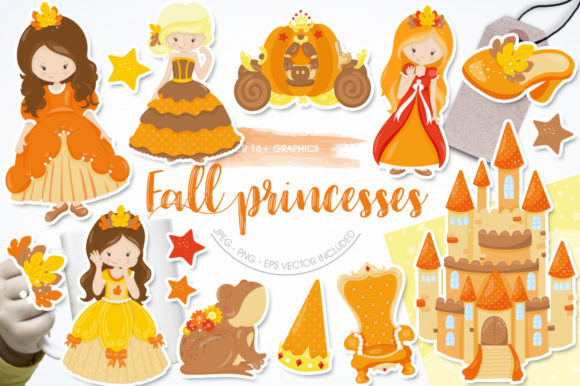 Print on Demand: Fall Princesses Graphic Illustrations By Prettygrafik