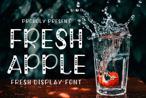 Print on Demand: Fresh Apple Display Fuente Por K_IN Studio