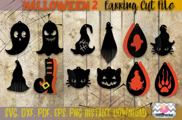 Halloween Bundle 2 Spider Web Earrings Graphic Crafts By Timetocraftshop