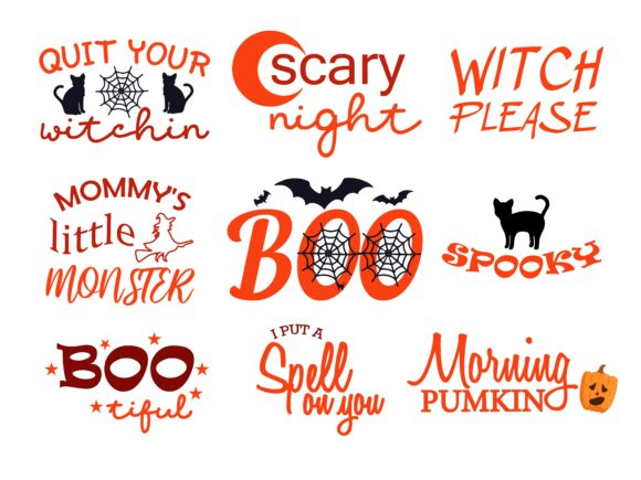 Halloween Bundle Quotes Graphic Illustrations By studioluckee