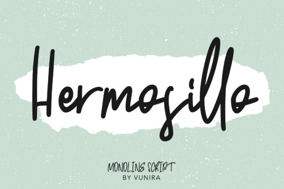 Print on Demand: Hermosillo Script & Handwritten Font By Vunira