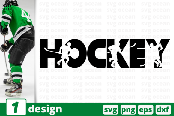 Print on Demand: Hockey Graphic Crafts By SvgOcean