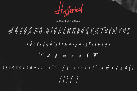 Hysterical Font Preview