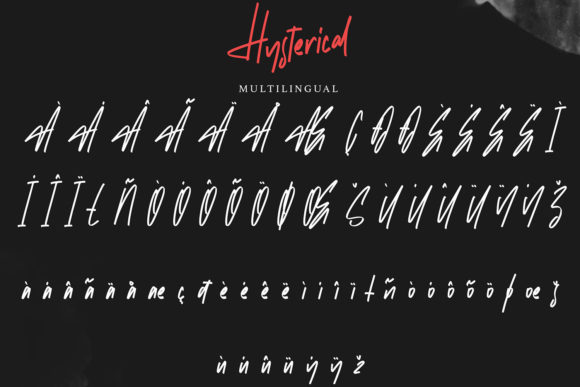 Hysterical Font Image