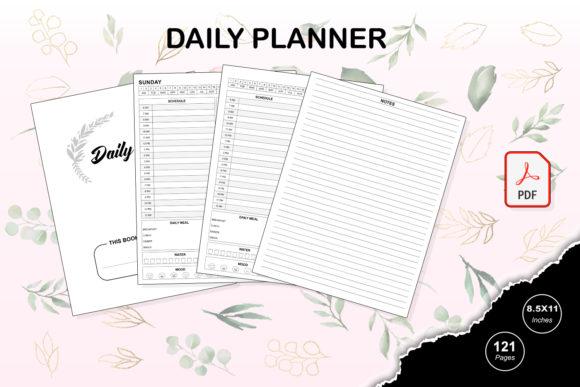Print on Demand: KDP Interior Daily Planner Graphic KDP Interiors By TripleBcraft