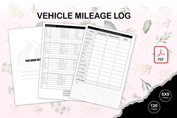 Print on Demand: KDP Interior Vehicle Mileage Log Grafik KPD Innenseiten von TripleBcraft