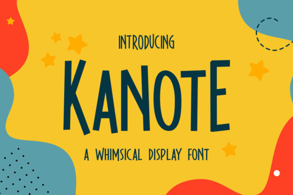 Print on Demand: Kanote Display Font By letterhend