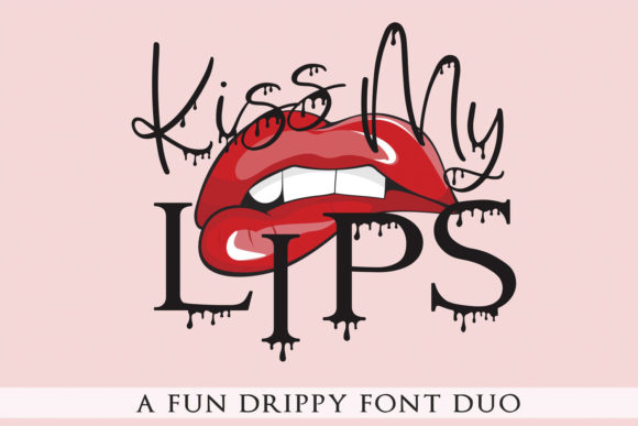 Print on Demand: Kiss My Lips Script & Handwritten Font By freelingdesignhouse