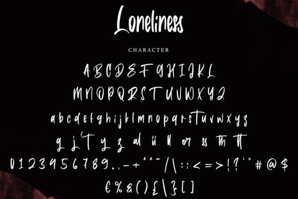 Loneliness Font Preview