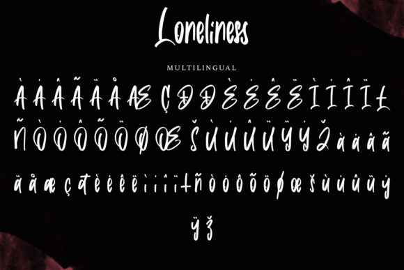 Loneliness Font Image