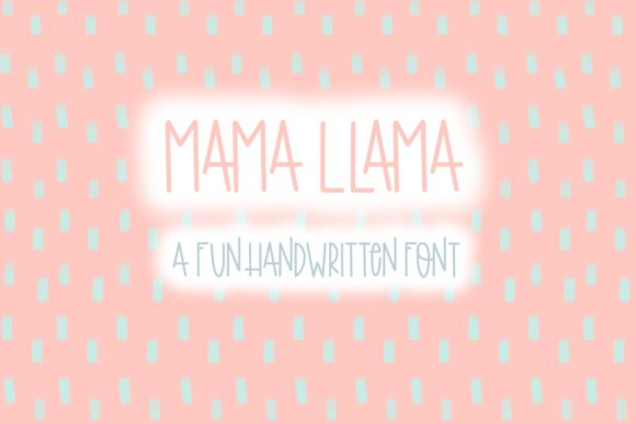 Print on Demand: Mama Llama Manuscrita Fuente Por Fairways and Chalkboards