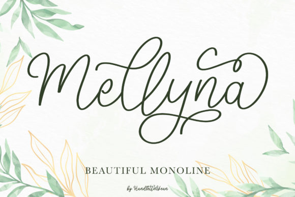 Print on Demand: Mellyna Script & Handwritten Font By yean.aguste