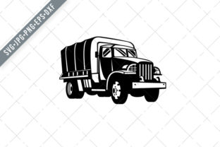 Print on Demand: Military Truck Military Vehicle Graphic Illustrations By patrimonio