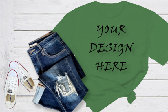 Mock Up Green T-shirt Graphic Product Mockups By ArtStudio