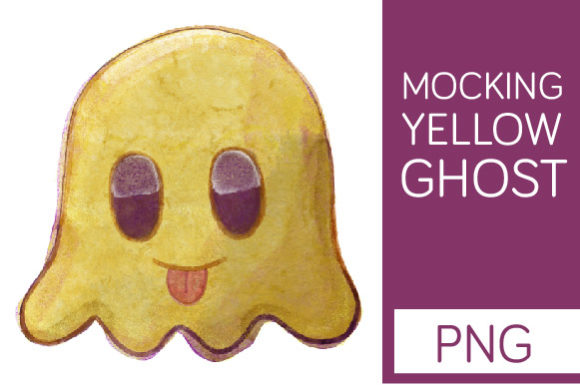 Print on Demand: Mocking Yellow Ghost - Halloween Clipart Graphic Illustrations By Milaski