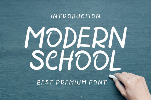 Print on Demand: Modern School Script & Handwritten Font By ONE DESIGN