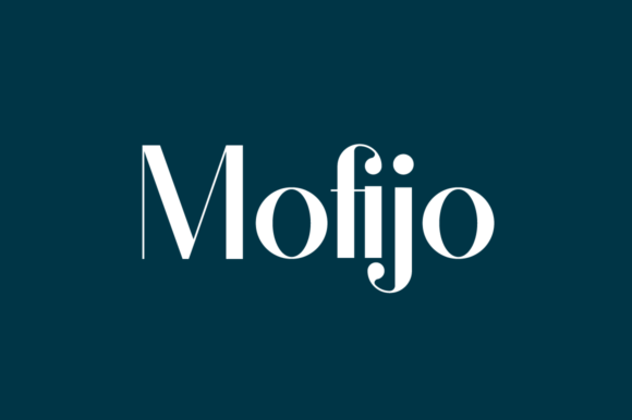 Print on Demand: Mofijo Display Font By AmruID