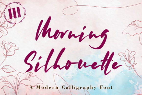 Print on Demand: Morning Silhouette Script & Handwritten Font By colllabstudio