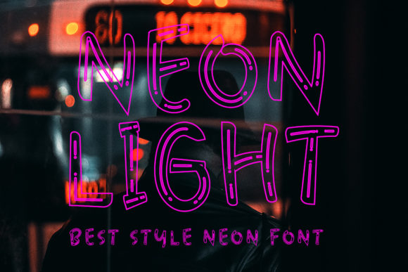 Print on Demand: Neon Light Display Font By Inermedia STUDIO