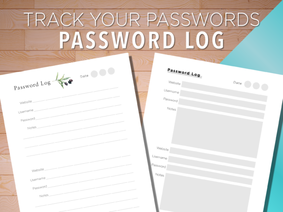 Print on Demand: Password Protect Log Printable Tracker Graphic KDP Interiors By AscendPrints