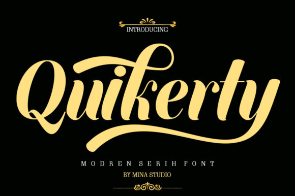 Print on Demand: Quikerty Script & Handwritten Font By Mina studio