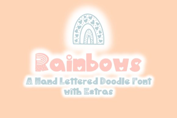 Print on Demand: Rainbows Script & Handwritten Font By Fairways and Chalkboards