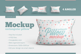 Rectangular Pillow Mockup Set Graphic Product Mockups By country4k