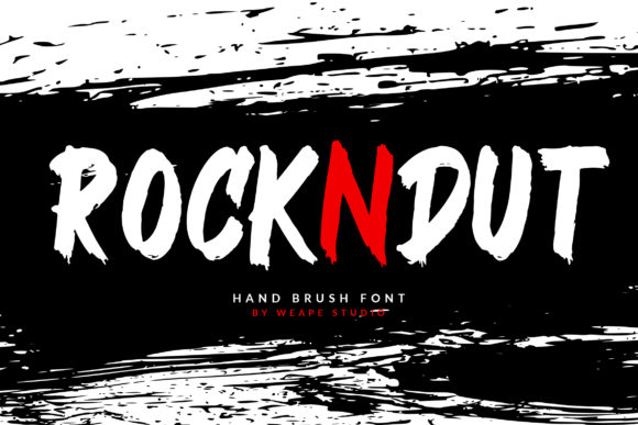 Print on Demand: Rockndut Display Font By Weape Design