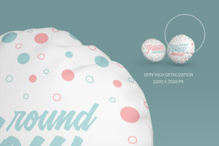 Round Pillow Mockup Set Graphic Product Mockups By country4k 3