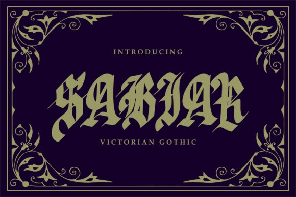 Print on Demand: Sabhar Blackletter Font By Vunira - Image 1