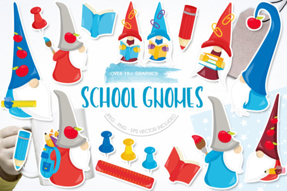 Print on Demand: School Gnomes Graphic Illustrations By Prettygrafik