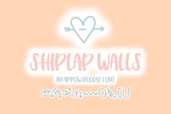 Print on Demand: Shiplap Walls Dingbats Font By Fairways and Chalkboards