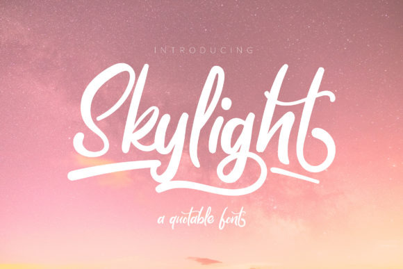 Print on Demand: Skylight Script & Handwritten Font By Vunira