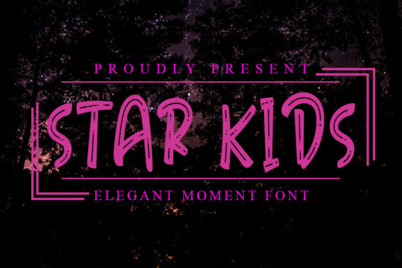 Print on Demand: Star Kids Display Font By Inermedia STUDIO