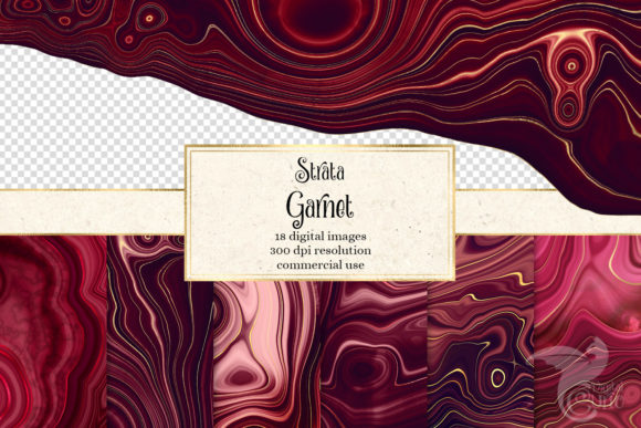 Print on Demand: Strata Garnet Red Agate Textures Gráfico Texturas Por Digital Curio