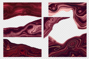 Print on Demand: Strata Garnet Red Agate Textures Graphic Textures By Digital Curio 2