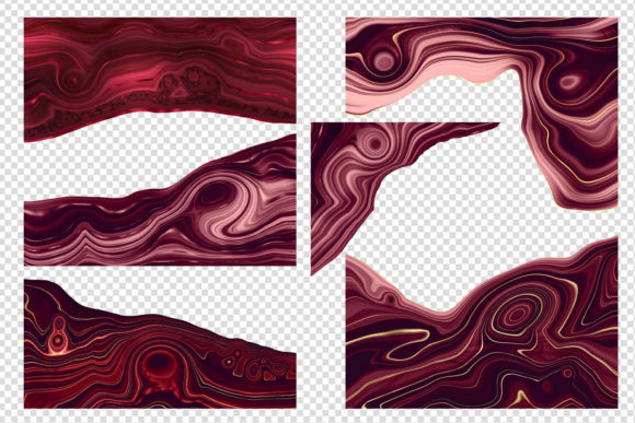 Print on Demand: Strata Garnet Red Agate Textures Graphic Textures By Digital Curio - Image 2