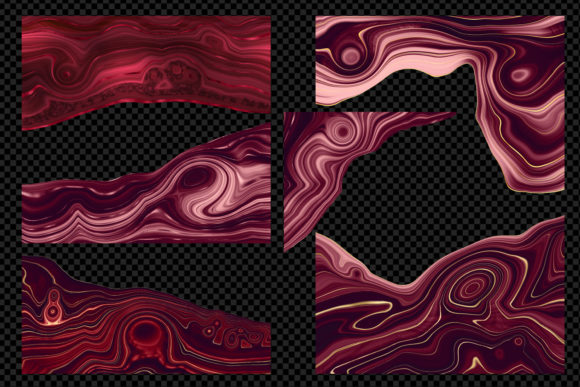 Print on Demand: Strata Garnet Red Agate Textures Graphic Textures By Digital Curio - Image 3