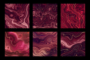 Print on Demand: Strata Garnet Red Agate Textures Graphic Textures By Digital Curio 6
