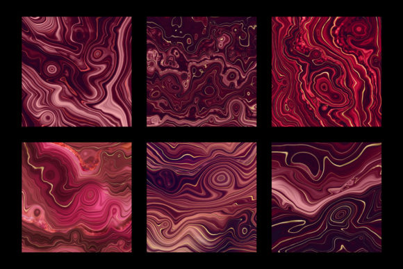 Print on Demand: Strata Garnet Red Agate Textures Graphic Textures By Digital Curio - Image 6